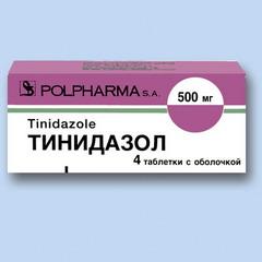 Таблетки, покрытые пленочной оболочкой, Тинидазол