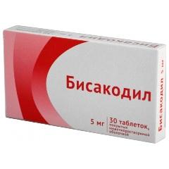 Таблетки, покрытые кишечнорастворимой оболочкой, Бисакодил