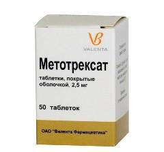 Таблетки, покрытые оболочкой, Метотрексат