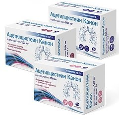 Гранулы для приготовления раствора для приема внутрь Ацетилцистеин Канон