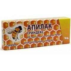 Таблетки для рассасывания Апилак Гриндекс
