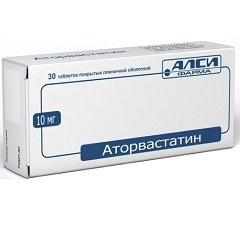 Таблетки, покрытые пленочной оболочкой, Аторвастатин