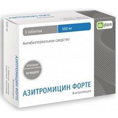 Таблетки, покрытые пленочной оболочкой, Азитромицин Форте