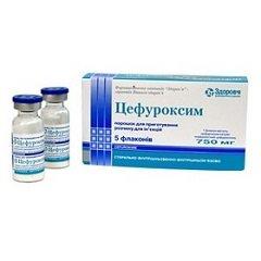Порошок для приготовления раствора для внутривенного и внутримышечного введения Цефуроксим