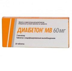 Таблетки с модифицированным высвобождением Диабетон МВ
