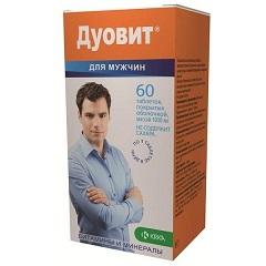 Таблетки, покрытые оболочкой, Дуовит для мужчин