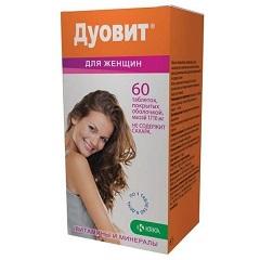 Таблетки, покрытые оболочкой, Дуовит для женщин