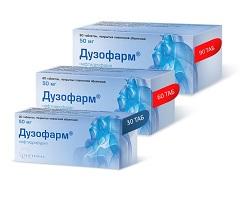 Таблетки, покрытые пленочной оболочкой, Дузофарм