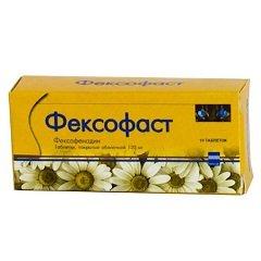 Таблетки, покрытые пленочной оболочкой, Фексофаст