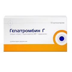 Cуппозитории ректальные Гепатромбин Г