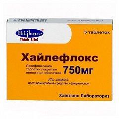 Таблетки, покрытые оболочкой, Хайлефлокс