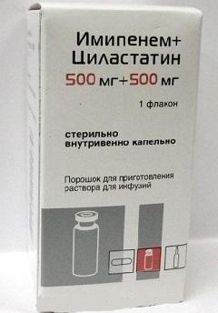Порошок для приготовления раствора для инфузий Имипенем+Циластатин