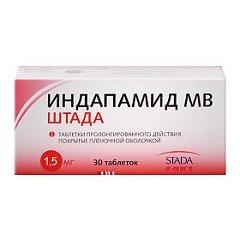 Таблетки пролонгированного действия, покрытые пленочной оболочкой, Индапамид МВ ШТАДА