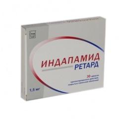 Таблетки пролонгированного действия, покрытые пленочной оболочкой, Индапамид ретард