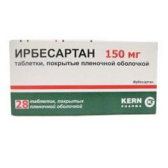 Таблетки, покрытые пленочной оболочкой, Ирбесартан