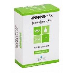 Капли глазные 2,5% Ирифрин БК
