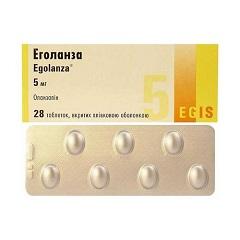 Таблетки, покрытые пленочной оболочкой, Эголанза