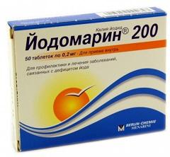 Таблетки Йодомарин 200