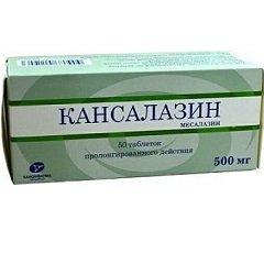 Таблетки пролонгированного действия Кансалазин