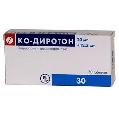 Таблетки Ко-Диротон