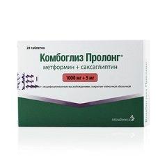 Таблетки модифицированного высвобождения, покрытые пленочной оболочкой, Комбоглиз Пролонг