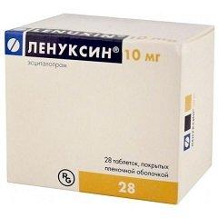 Таблетки, покрытые пленочной оболочкой, Ленуксин