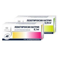 Таблетки Левотироксин натрия
