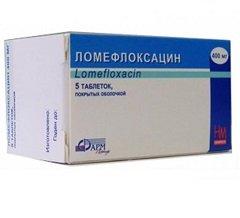 Таблетки, покрытые пленочной оболочкой, Ломефлоксацин