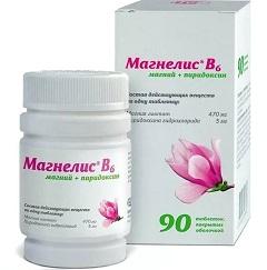 Таблетки, покрытые оболочкой, Магнелис B6
