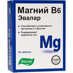 Таблетки Магний В6 Эвалар