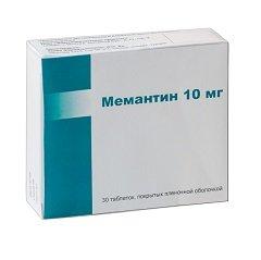 Таблетки, покрытые пленочной оболочкой, Мемантин