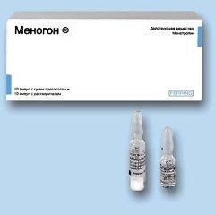 Лиофилизат для приготовления раствора для внутримышечного (в/м) и подкожного (п/к) введения Меногон