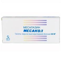 Таблетки, покрытые кишечнорастворимой оболочкой, Месакол