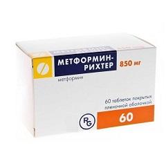 Таблетки, покрытые пленочной оболочкой, Метформин-Рихтер