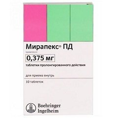 Таблетки пролонгированного действия Мирапекс ПД
