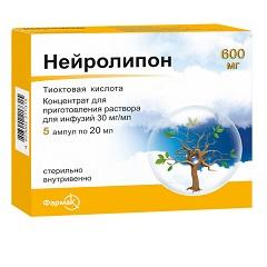 Концентрат для приготовления раствора для инфузий Нейролипон