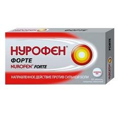 Таблетки, покрытые оболочкой, Нурофен Форте