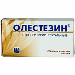 Суппозитории ректальные Олестезин