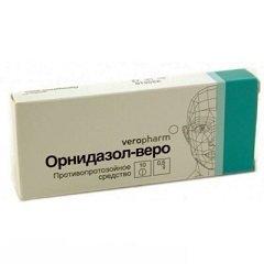 Таблетки, покрытые пленочной оболочкой, Орнидазол-веро