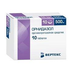 Таблетки, покрытые пленочной оболочкой, Орнидазол