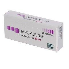 Таблетки, покрытые пленочной оболочкой, Пароксетин