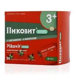 Жевательные таблетки Пиковит Юник 3+
