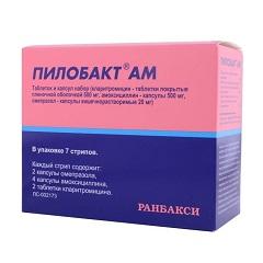 Таблеток и капсул набор Пилобакт АМ