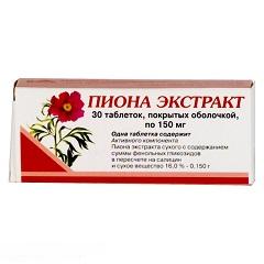 Таблетки, покрытые оболочкой, Пиона экстракт