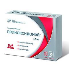 Лиофилизат для приготовления раствора для инъекций и местного применения Полиоксидоний