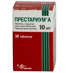 Таблетки, покрытые пленочной оболочкой, Престариум А
