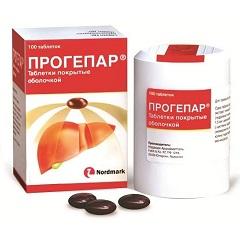 Таблетки, покрытые оболочкой, Прогепар