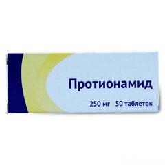 Таблетки, покрытые пленочной оболочкой, Протионамид