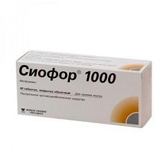 Таблетки, покрытые оболочкой, Сиофор 1000