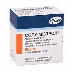 Лиофилизат для приготовления раствора для внутривенного и внутримышечного введения Солу-Медрол